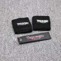 Black Brake Reservoir Socks Covers For For Triumph Daytona 675 600 1000 Street Triple Speed Triple BK Motorcycle Parts