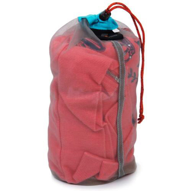 Camping Sports Ultralight Mesh Oppbevaringspose Utendørs Stuff Sack Drawstring Oppbevaringspose Traveling Organizer Outdoor Tool