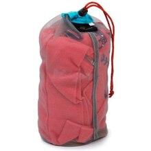 Camping Sports Ultralight Mesh Storage Bag Outdoor Stuff Sack Drawstring Storage Bag Traveling Organizer Outdoor Tool