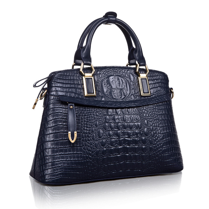 Hot Sale women handbag women messenger bags ladies shoulder bag large bolsa genuine leather handbags Crocodile pattern tote bags brand women handbag genuine leather tote bag female classic crocodile pattern prints shoulder bags ladies handbags messenger bag