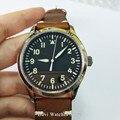 42 мм сапфировое стекло  автоматические мужские часы с черным циферблатом со светящимися макрс наручные часы