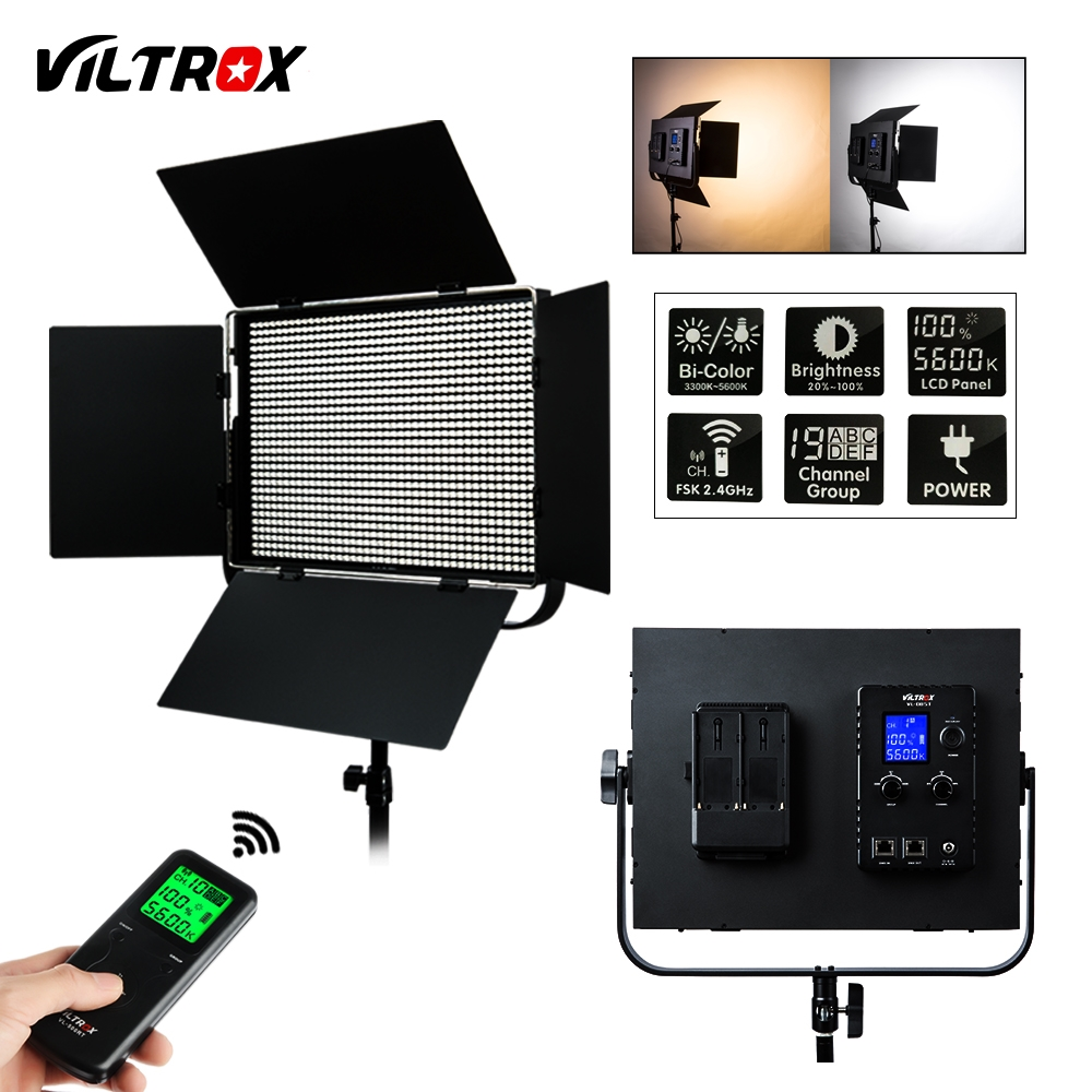 VILTROX VL-D85T Professional slim Metal Bi-color LED photography light & Wireless remote for Camera Photo Studio Video light