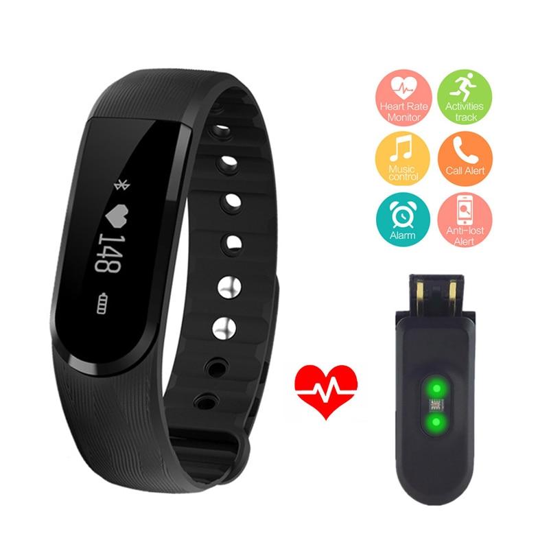 ID101 Smart Bracelet Heart Rate Monitor Smartband Pulse Sports Fitness Activity Tracker Wrist Band Music Control Wristband B1