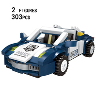 Super Traffic Police 3in1 Patrol Car Building Blocks Policeman Thief Minifigures Compatible Withlego City Bricks Toys