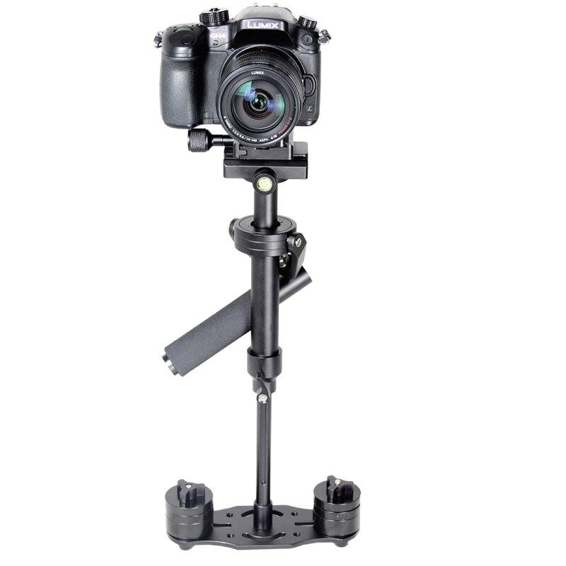 Professionnel s40n dslr appareil photo en aluminium trépied de poche mini stablizer pour canon nikon gopro camcorder steadycam vidéo steadicam