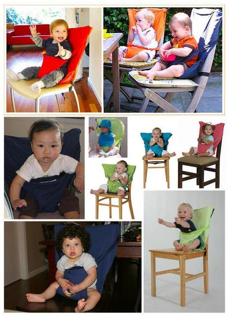 Kids Chair Baby Chair Travel Foldable Washable Infant Dining High Dinning Cover Seat Safety Belt Feeding Baby Care Accessories 1