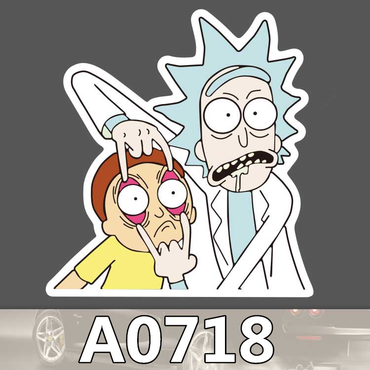 Bevle A0718 Rick And Morty Rick Sanchez Smith Waterproof Sticker Cool Laptop Luggage Fridge Phone Graffiti Notebook Stickers