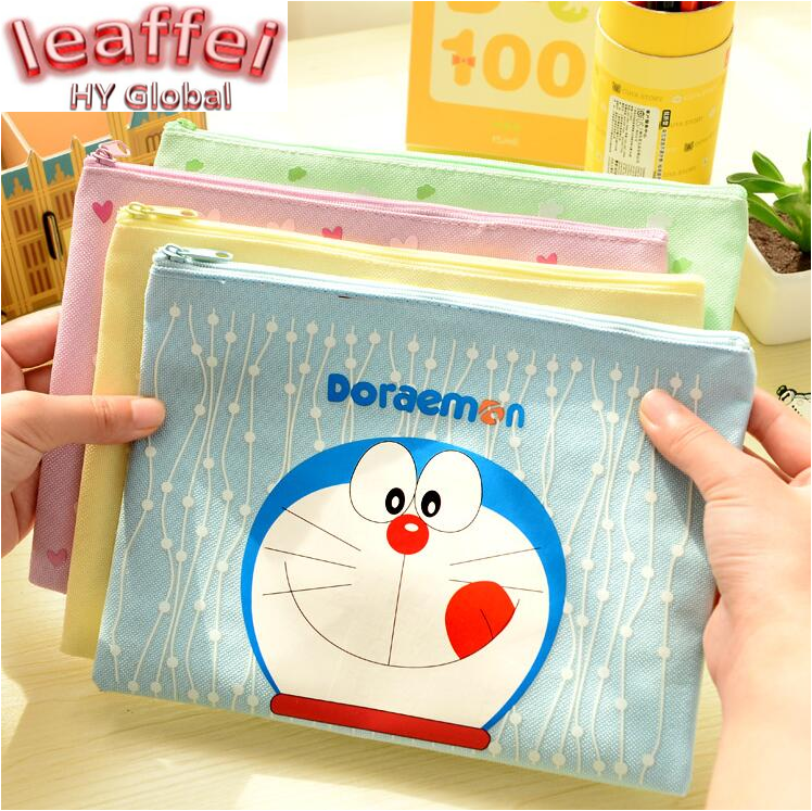 1pcs/lot 22*16cm New Japan Kawaii Cartoon Style Series Lovely School Oxford Cloth File Bag Pencil Promotional Gift Stationery