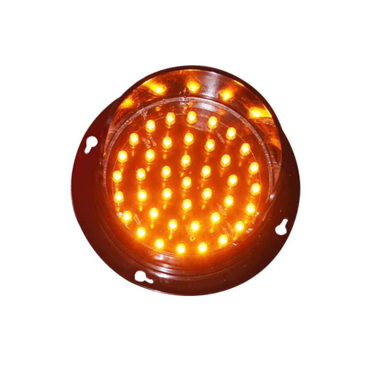 DC12V Or DC24V 100mm High Brightness Epistar LED Yellow Color Traffic Signal Light Replacement