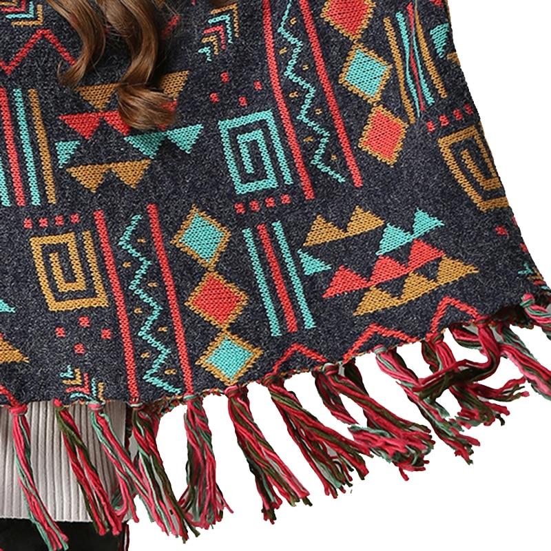 Boho Pullover Loose Tassels Vintage Gypsy Sweater