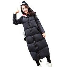2016 Зимнее Пальто Женщин Мода Плюс Размер женщин Зимняя Куртка женщины Вниз Пальто Куртки Студенческие Теплые Капюшоном Женщина Куртка Пальто C460