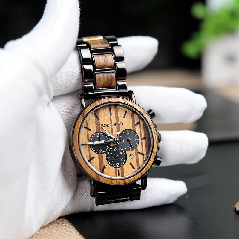 Zegarek drewniany Bobo Bird Logos 12