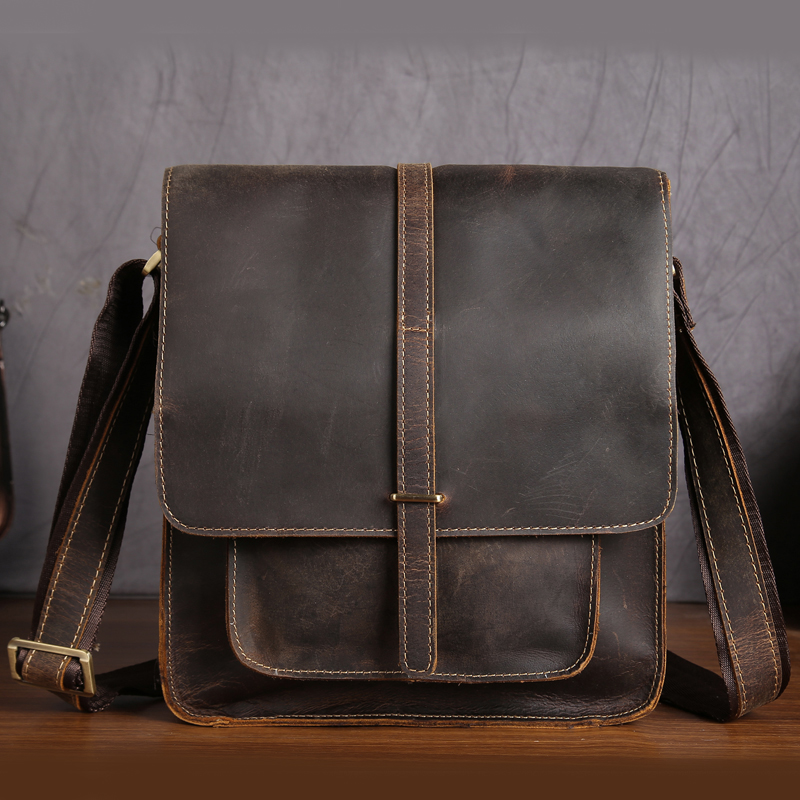 NEWEEKEND Genuine Leather Bag Men Bags Shoulder Crossbody Bags Messenger Small Flap Casual Handbags Male Leather Bag New 5867 цены