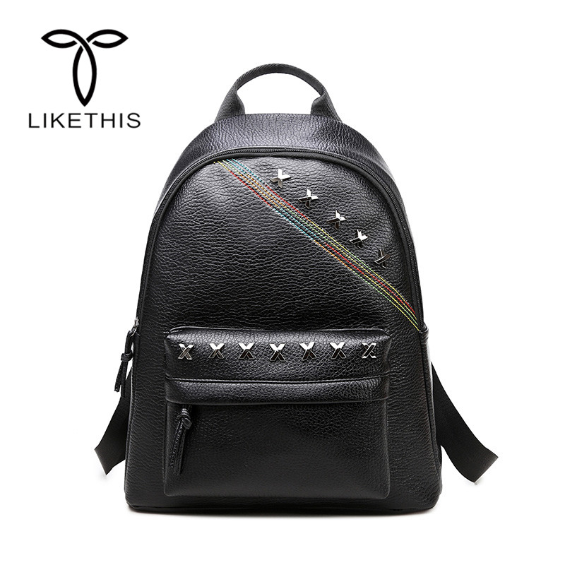 PU Leather Duffle BackBag Large Capacity Women Bags Travel Bag Charms Sequined Double Straps School Backpack Girls Fashion-f4