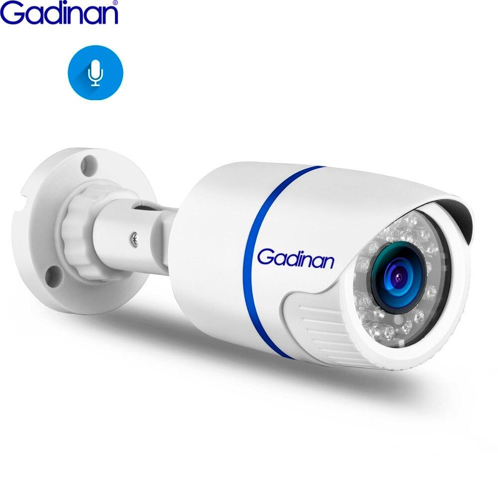Gadinan 5mp sony imx335 4mp 3mp 2mp áudio poe câmera ip ao ar livre à prova dh.2água h.265 cctv bala câmera visão noturna p2p onvif