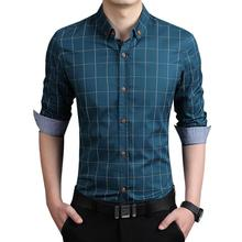 Men Long Sleeve Slim Fit Casual Shirts