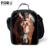 O envio gratuito de crianças almoço térmica sacos de presentes para meninos crianças ombro piquenique almoço almoço sacos lancheira fresco do crânio 3d animal caixa