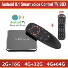 H96 max X2 Android 8,1 ТВ BOX Amlogic S905X2 2/4 GB Встроенная память 16/32/64 GB Встроенная память Google Voice Управление 2,4 г/5G Wi-Fi BT4.0 Smart Декодер каналов кабельного телевидения