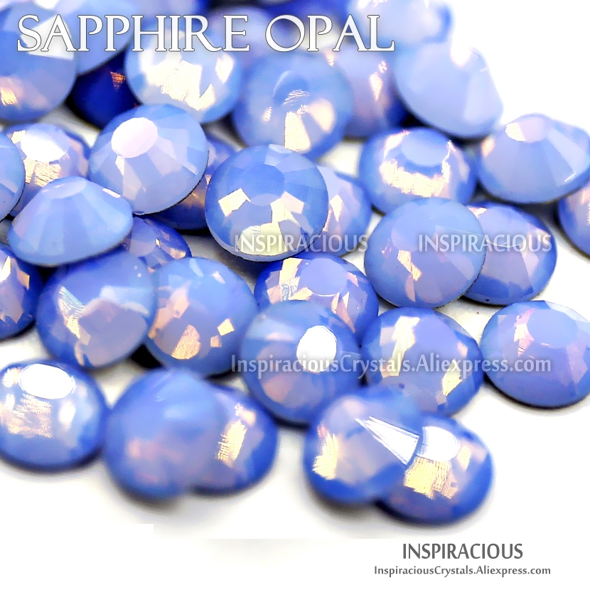Sapphire Opal SS3-SS30 all sizes 3D Nail Art Rhinestone for DIY manicure design Non hotfix crystal glitters strass nails stones high quality 1packs mix sizes gold rose ab non hotfix flatback nail rhinestoens nails accessories nail art decoration gems