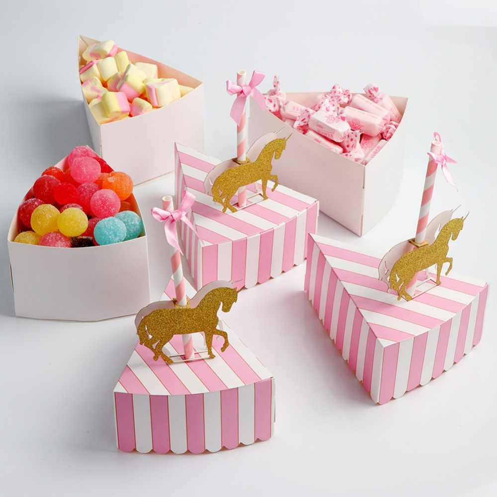 OurWarm Unique boîte à bonbons carrousel pour licorne fête cadeau décorations de fête d'anniversaire faveurs de mariage et cadeaux Souvenir pour les invités