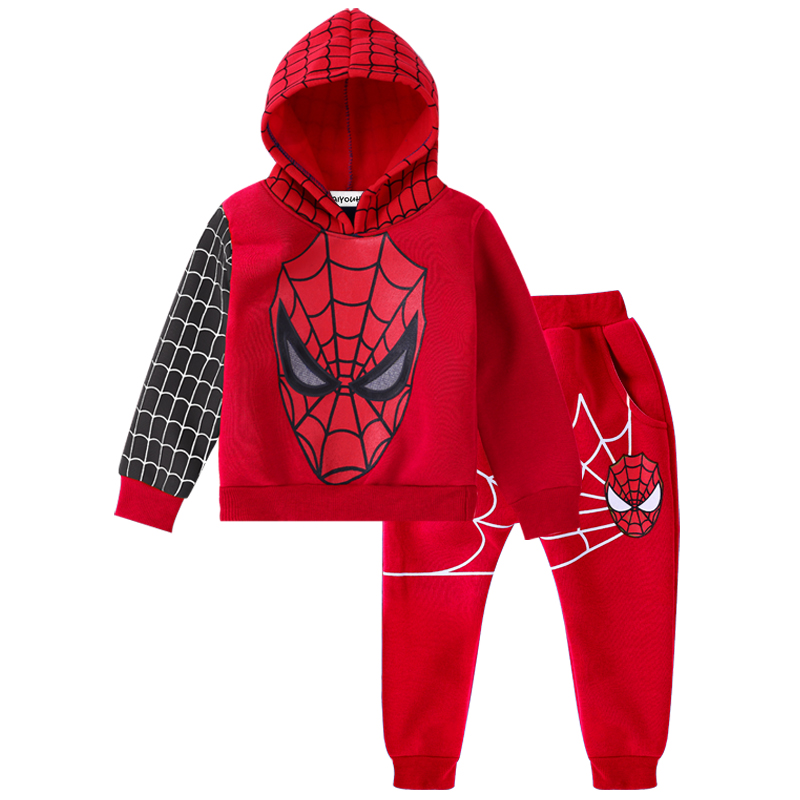 Children Clothing Autumn Winter Toddler Boys Clothes Sets Spiderman Costume Kids Clothes For Boys Clothing Suit 3 4 5 6 7 Year 16