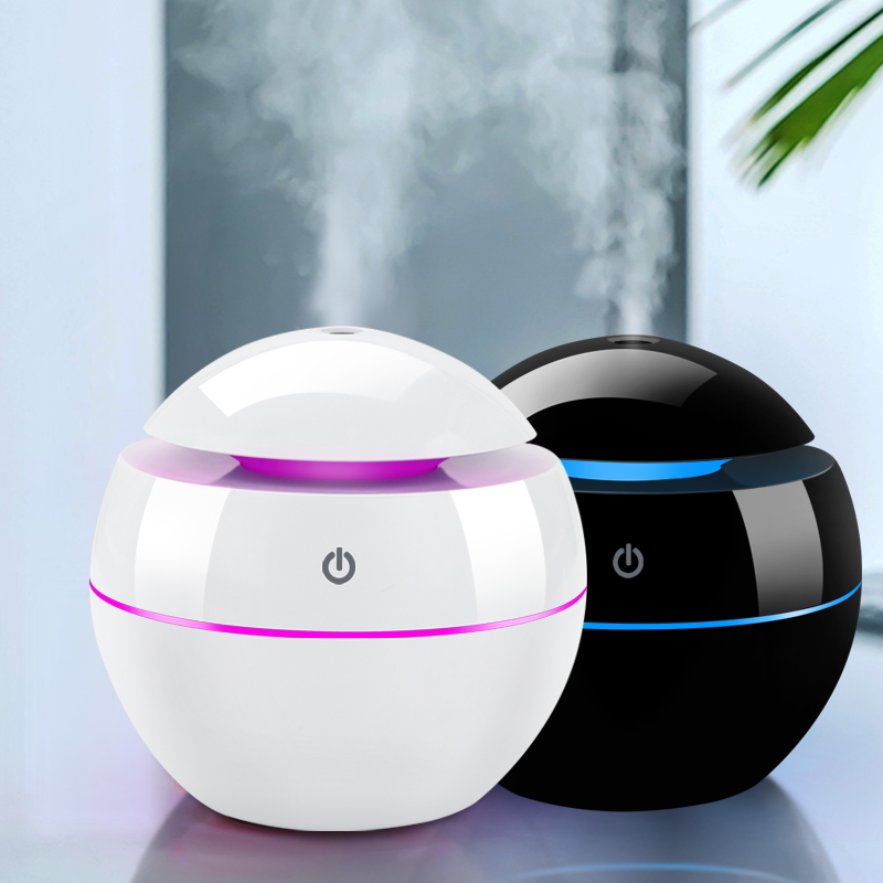 USB Air Humidifier Changeable Aroma Essential Oil Diffuser Mini Portable Ultrasonic Mist Humidifier Air Purifier LED Night Light