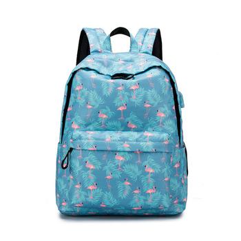 Plecaki marki kobiety prosty nadruk flaminga plecak dla nastoletnich dziewcząt torby szkolne na laptopy Mochila 2019 (używane na bagażniku) tanie i dobre opinie ALUEATOM Poliester Tłoczenie WOMEN Miękka 20-35 litr Wnętrze slot kieszeń Kieszeń na telefon komórkowy Wewnętrzna kieszeń