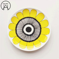 1PCS Yellow Flowers Western Tray Launch Box Food Container Knife Dishes Bento Container Bento Box Bento Plate Dinnerware Set
