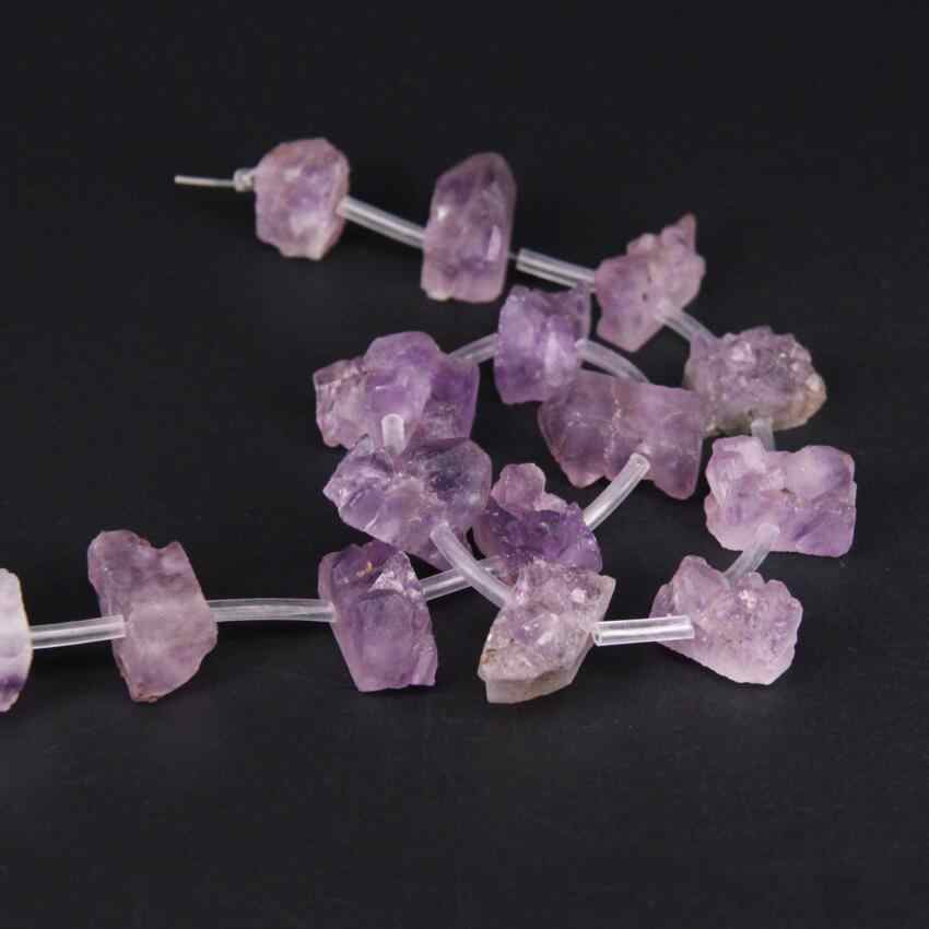 Full strand,Purple Roug Quartz Geode Druzy Freeform Rectangle Slab Nugget Beads,Natural Raw Crystal Drusy Slice Pendant Jewelry