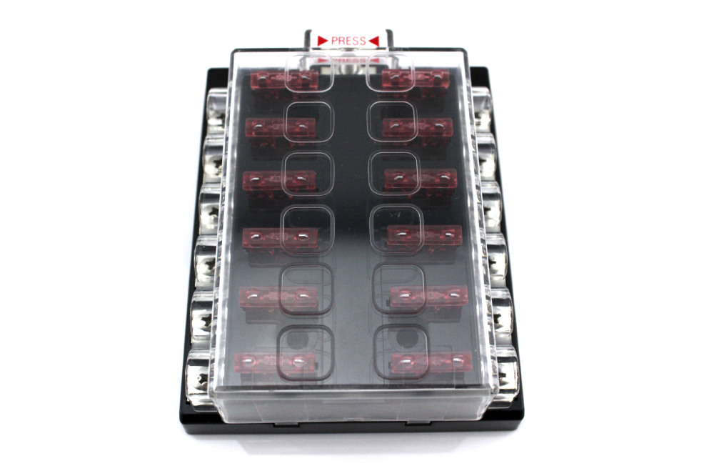 Moto Home 12 Way Blade Fuse Box Bus Bar Kit Car Boat Marine FuseBox Holder 12V moto home 12 way blade fuse box & bus bar kit car boat marine busbar fuse box at creativeand.co