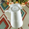New Arrival ZAKA White Butterfly Flower Relief Ceramic Kettle Large Capacity High Temperature Cold Water Bottles