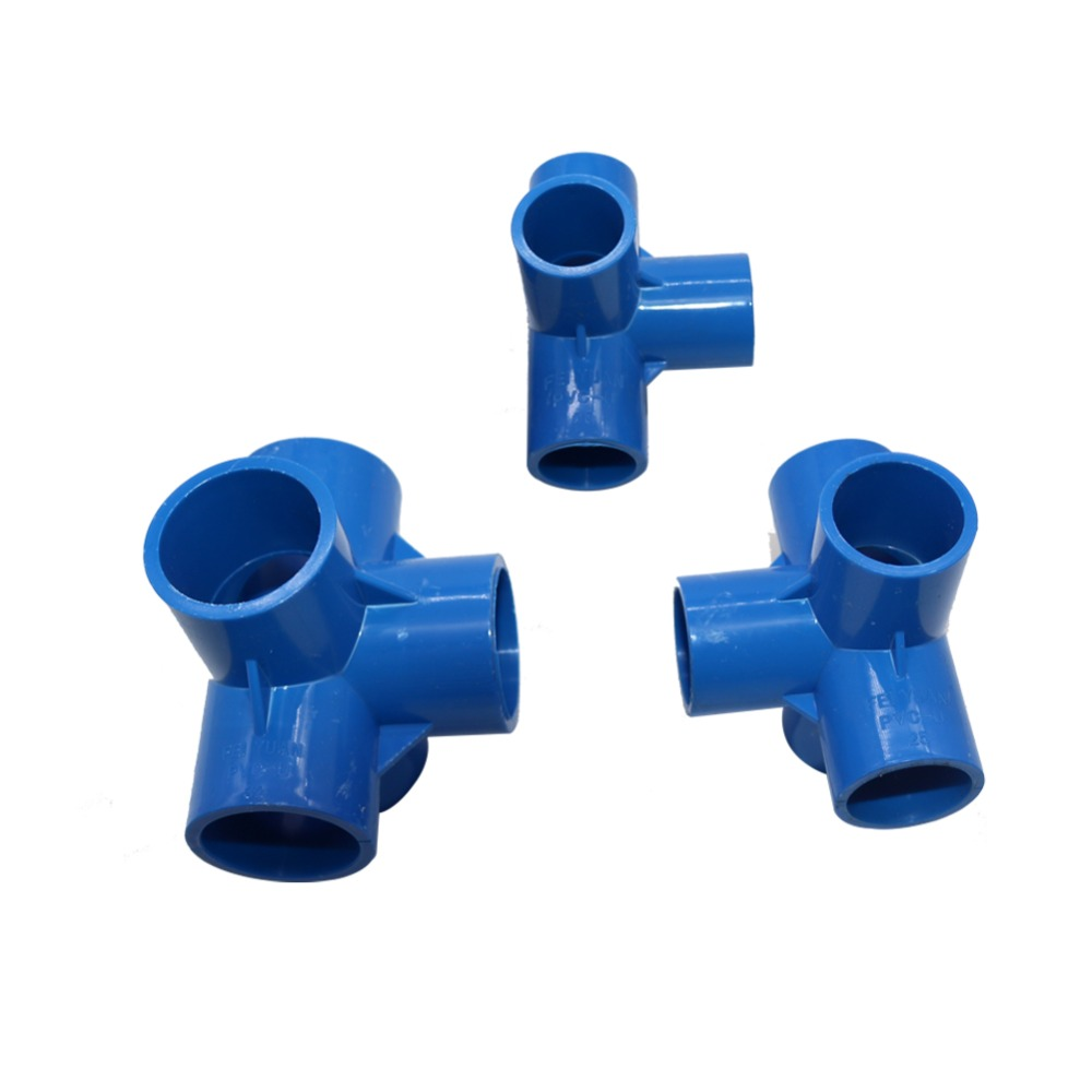 Water /& Wood 10 Pcs 16mm Hole 3 Ways White PVC Pipe Tee Shaped Connectors Fittings