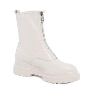 Image 3 - MORAZORA حجم كبير 34 42 جديد جودة عالية جلد طبيعي حذاء من الجلد للنساء سستة الخريف الشتاء منصة الأحذية أحذية نسائية