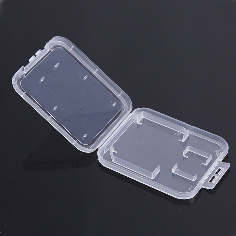 EASYA Memory Card Case For Protect SD TF Cards Plastic Holder Case Transparent Box Storage