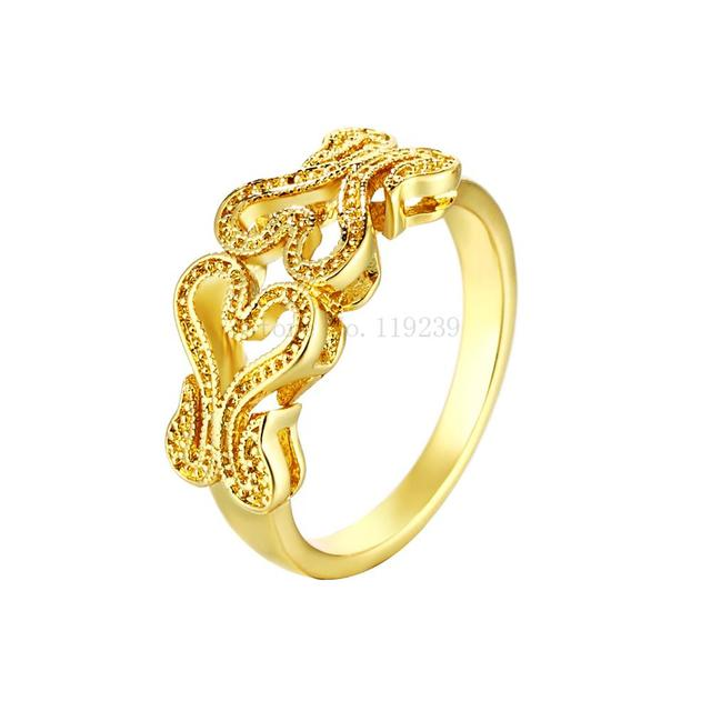ZR091 A 8 Top Quality Retro Vintage Yellow Gold Color Hollow Heart
