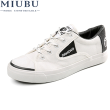 MIUBU Spring Summer Canvas Shoes Men Sneakers Low top Black Mens Casual Male Brand Fashion Flats