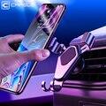 Caja protectora CAFELE la gravedad titular del teléfono del coche de 360 grados rotación de ventilación de aire de coche soporte para iphone X Xr Xs Samsung S9 huawei p20 Xiaomi