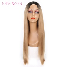Мисс парик черный ombre светлые каштановые волосы длинные прямые женщин синтетический парик