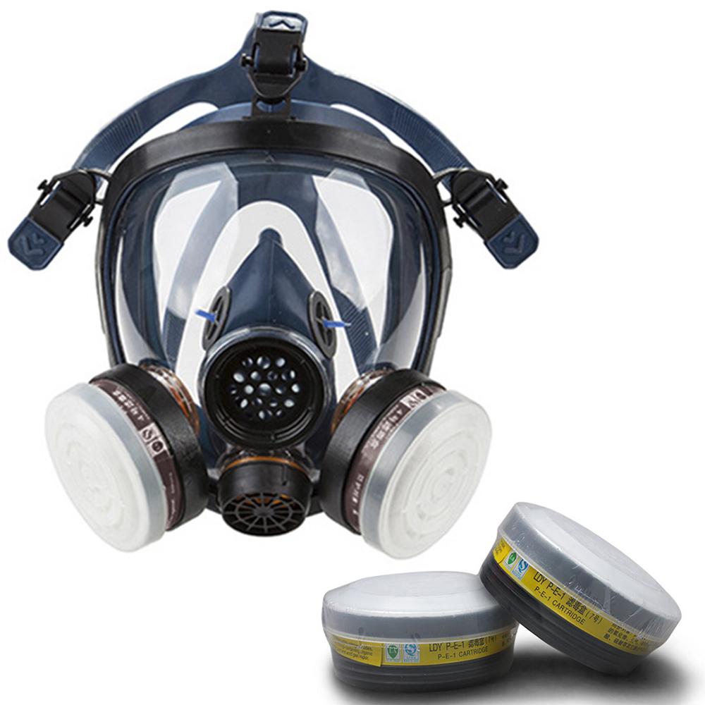 STRONG/ST-S100-3 Gas Mask Respirator Dual Filter Full Face Mask for Painting Spraying Silica Gel Mask