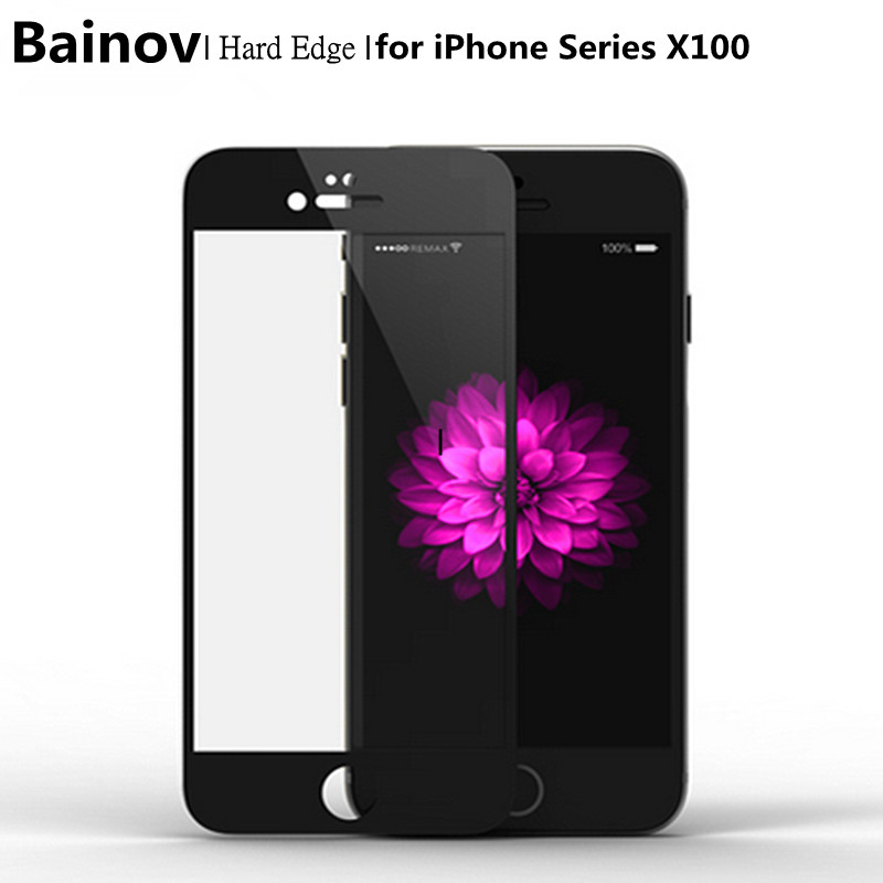 Bainov DHL Free 100pcs/Lot Full Cover Tempered Glass For iPhone 6 6s Plus Screen Protector Protective Film For iPhone 7 Plus
