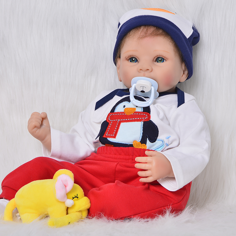 KEIUMI 22 Silicone Reborn Dolls Soft Vinyl DIY Toy Stuffed Doll Lifelike Boy Babies Reborn 55 cm Alive Boneca Birthday GiftsKEIUMI 22 Silicone Reborn Dolls Soft Vinyl DIY Toy Stuffed Doll Lifelike Boy Babies Reborn 55 cm Alive Boneca Birthday Gifts