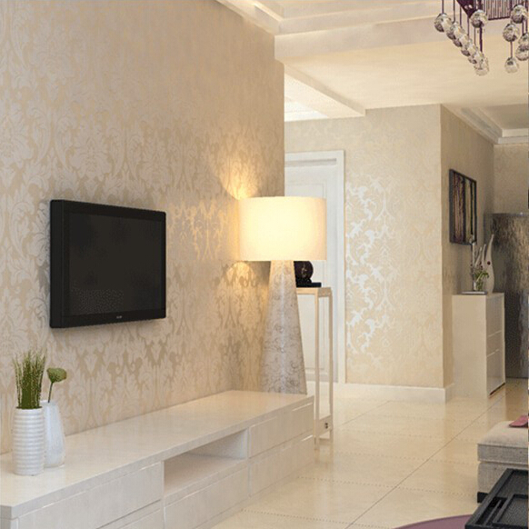 Neutral wallpaper for living room for Salon beige scouts d europe
