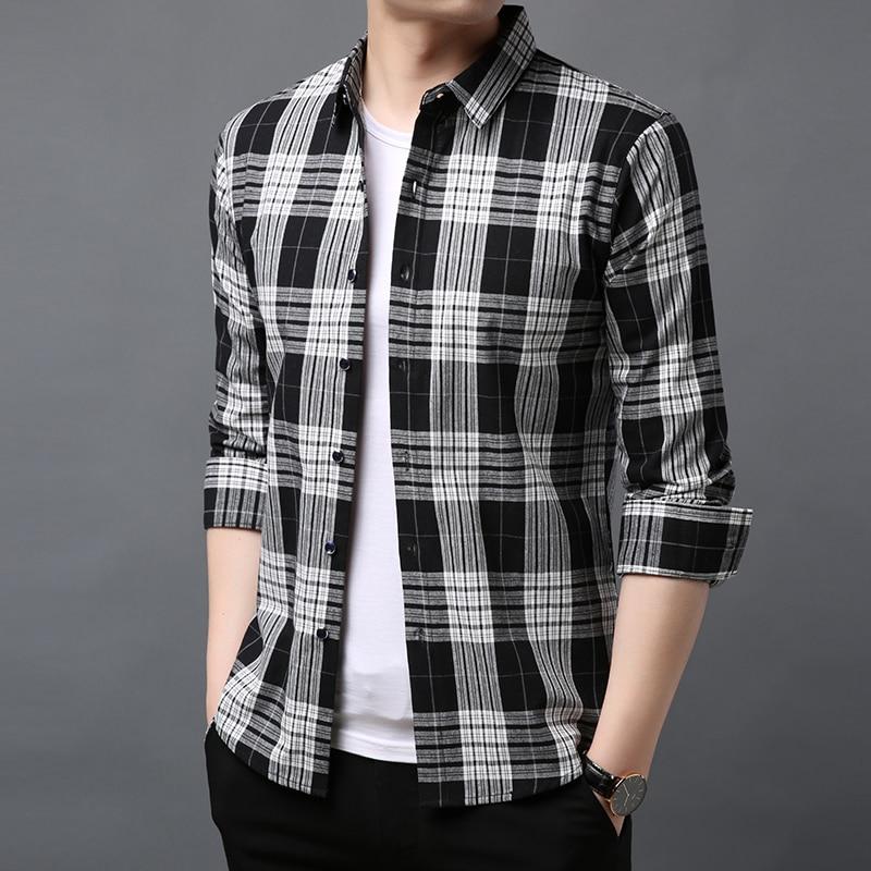 2019 Mode Marke Designer Shirt Herren Hohe Qualität Langarm Slim Fit Streetwear Gestreiften Workout Neue Casual Herren Kleidung