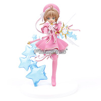 Card Captor Sakura Clear Card Kinomoto Sakura with Magic Wand PVC Figure Collectible Model Toy