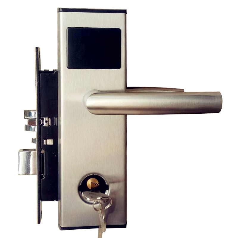 RFID Card Digital Hotel Door Lock Electronic Keyless Security Entry 304 Stainless Steel in Silver professional manufacture hotel lock intelligent rfid card hotel lock for hotel stainless steel et6001rf