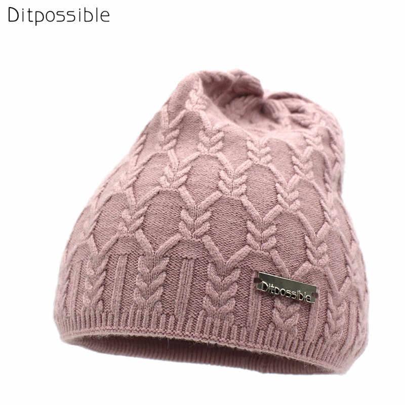Ditpossible girls winter hats fashion knitted beanies bonnet skullies  female cap gorro wool hat for women 06e3ab36857