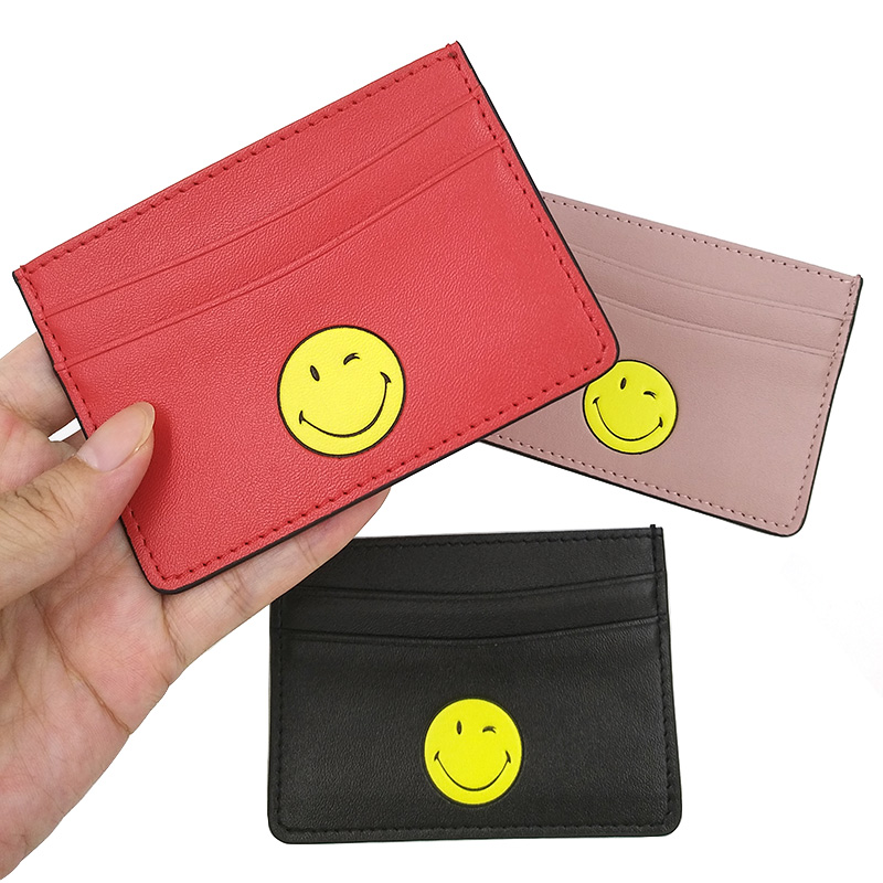 Fashion Little Monster Card Holder Case PU Leather Pocket Pouch Business Travel Card Wallets For ID Credit Card Cardholder Bag in Card ID Holders from Luggage Bags
