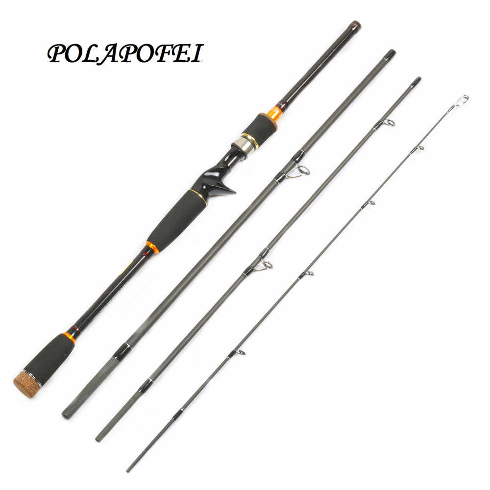650c7d81970 2.1M 2.4M 2.7M Carbon Fishing Rod Spinning Casting Pole 4 Section M Boat