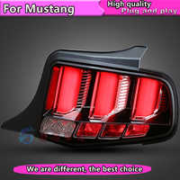 Estilo de coche para Ford Mustang luces traseras LED luz trasera 2010-2014 mustang versión americana cola luz con dinámico de señal