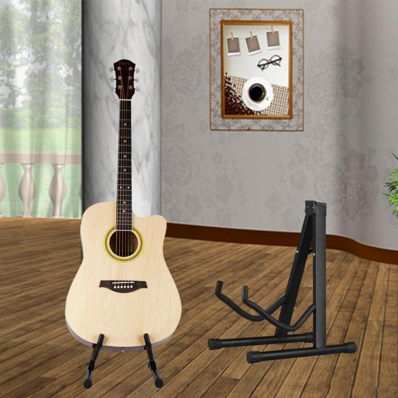 Electric Guitar Stand Holder Bracket Support Length Stretchable Upright A-frame for Acoustic Guitar Ukulele Bass Violin 2pcs guitar piano bass guitar hook violin ukulele electric guitar stand long arm wall hanger hook holder pa094